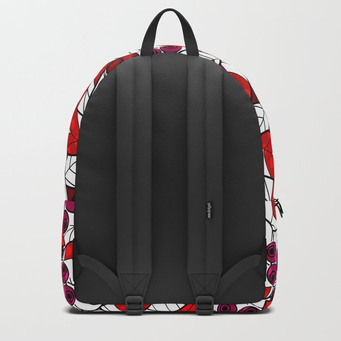 Retro . Bright colorful pattern . Backpack