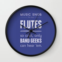 Flutes — Music Snob Tip #413 Wall Clock