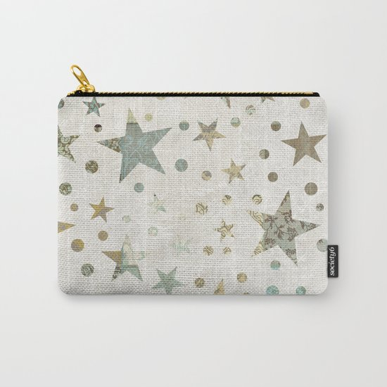 Patchwork Stars Collage Pattern Carry-All Pouch