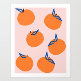 Minimalist clementines Art Print