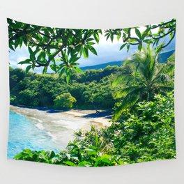 Hamoa Beach Hana Maui Hawaii Wall Tapestry