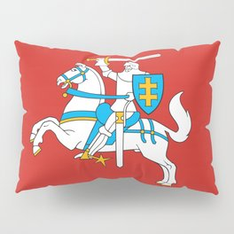 State Flag of Lithuania Knight On Red Pillow Sham