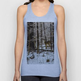 Deer in the Glistening Forest by Teresa Thompson Unisex Tank Top