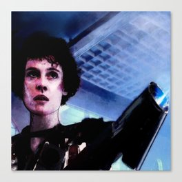"Sigourney Weaver. In the movie ""Aliens"" Canvas Print"