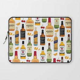 Whiskey Bottles Illustration Laptop Sleeve