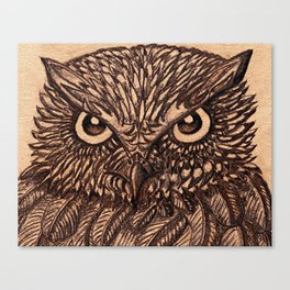 Fierce Brown Owl Canvas Print