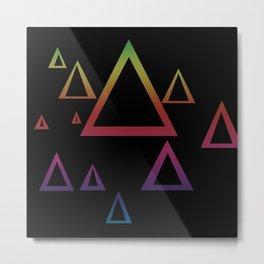 Triangular Discourse Metal Print