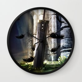 A Hero's sword Wall Clock