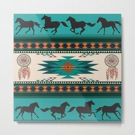 American Native Pattern No. 156 Metal Print