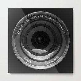 The Lens   Black Metal Print