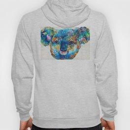 Colorful Koala Bear Art by Sharon Cummings Hoody