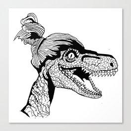 Hipster Velociraptor Canvas Print