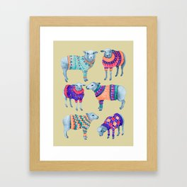 Rocking Their Woolly Jumpers Framed Art Print