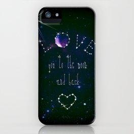 LOVE YOU GALAXY  iPhone Case