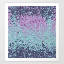 Blue, Teal, and Purple Art Print