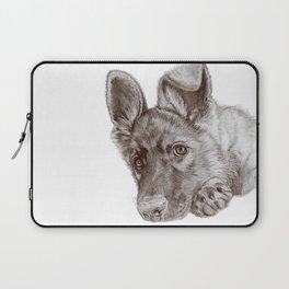 Patience :: A German Shepherd Puppy, Sepia Laptop Sleeve