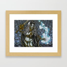 LADY DEATH TRIBUTE  Framed Art Print