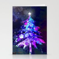 christmas tree Stationery Cards featuring Christmas Tree by tscreative