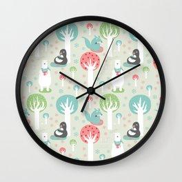Mmmm...hot cocoa - Fabric pattern Wall Clock