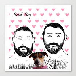 Beard Boy: Happy Dog Canvas Print