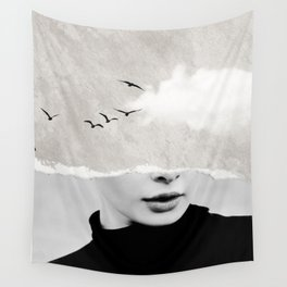minimal collage /silence Wall Tapestry