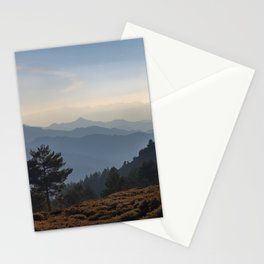 Blue dreams III. Misty mountains Stationery Cards