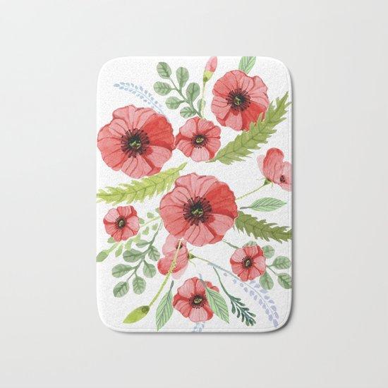 Flowers 110 Bath Mat
