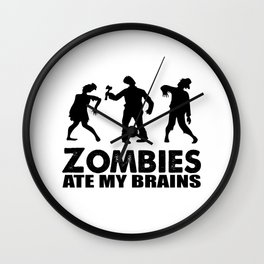 zombies ate my brains Wall Clock