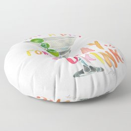 What a Day for a Day Drink – Melon Typography Floor Pillow