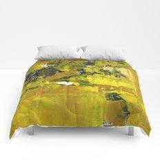 Waiter Yellow Abstract Modern Art Painting Comforters