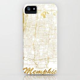 Memphis Map Gold iPhone Case