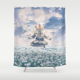 Dreamer In The Field Shower Curtain