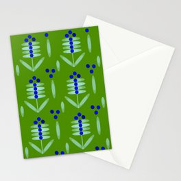 Blueberry pattern - By Matilda Lorentsson Stationery Cards