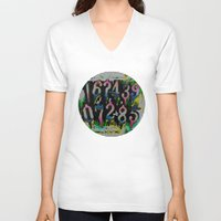 numbers V-neck T-shirts featuring Numbers! by gasponce