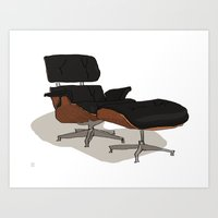 eames Art Prints featuring Eames by Arsed