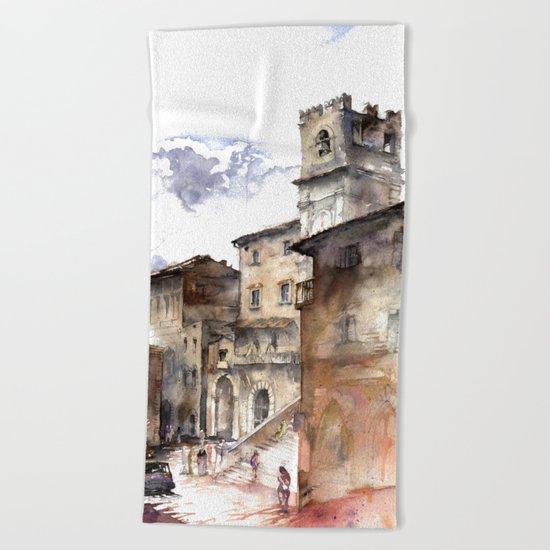 Cortona, Italy Beach Towel