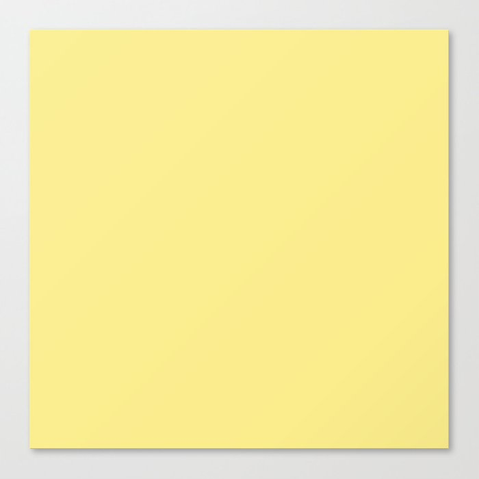Daffodil Yellow - Solid Color Collection Canvas Print