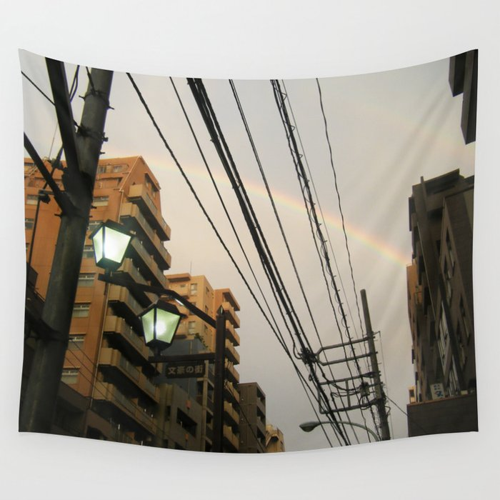 Rainbow Alley Wall Tapestry