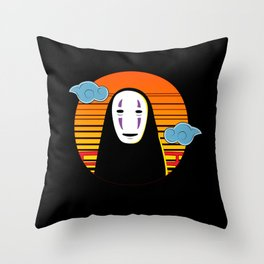 No Face a Lonely Spirit Throw Pillow