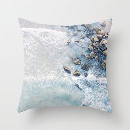 Coastal Waves Throw Pillow