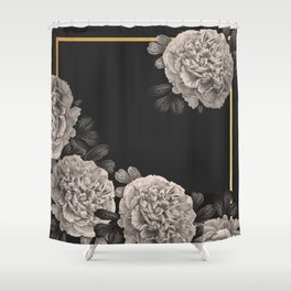Flowers on a winter night Shower Curtain