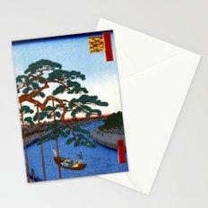 Utagawa Hiroshige Five Pines Onagi River Stationery Cards