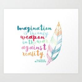 Alice In Wonderland | Quote 1 Art Print