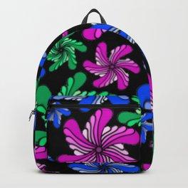 PinWheels on Black Backpack