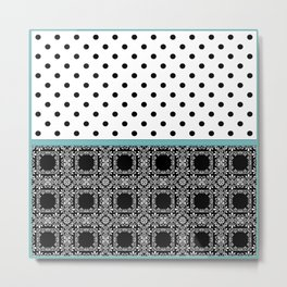 A combined decorative pattern . Metal Print