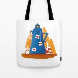 Tea Lighthouse Tote Bag