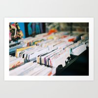 records Art Prints featuring records by tesslucia