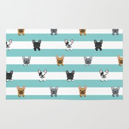 French Bulldog stripes Rug