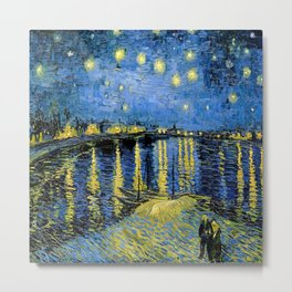 Vincent van Gogh Starry Night over the Rhone Metal Print