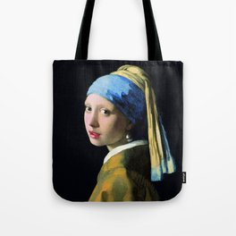 Jan Vermeer Girl With A Pearl Earring Baroque Art Tote Bag